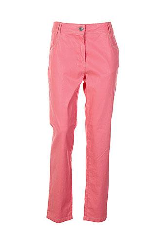 anne et kelly pantalons et decontractes femme de couleur rose