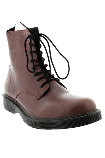 benetton boots femme de couleur rouge
