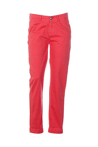 little marcel pantalons femme de couleur rouge