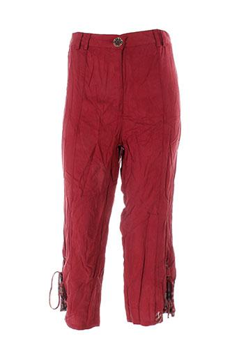 be the queen pantacourts femme de couleur rouge