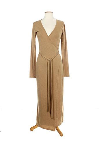 ines de la fressange robes femme de couleur marron