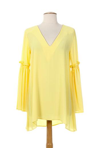 serena kay t-shirts femme de couleur jaune