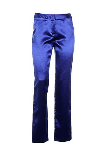 zapa pantalons femme de couleur bleu