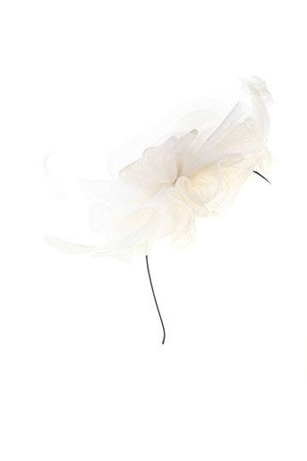 eva et line chapeaux et bonnets femme de couleur blanc