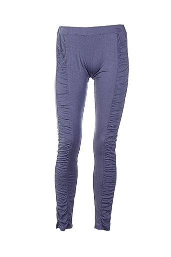 kaffe pantalons femme de couleur bleu