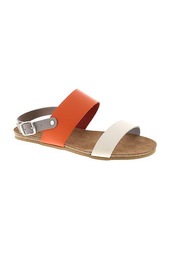kedzaro sandales et nu et pieds femme de couleur blanc