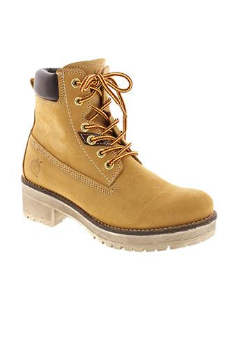 f et company boots femme de couleur beige