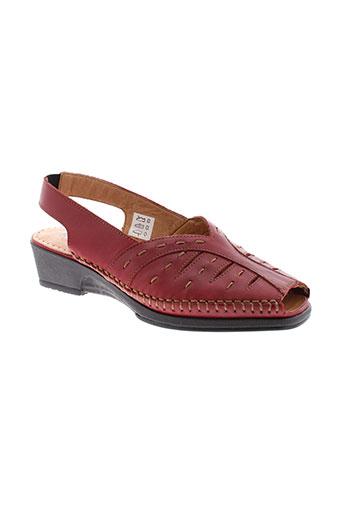 kiarflex sandales et nu et pieds femme de couleur rouge