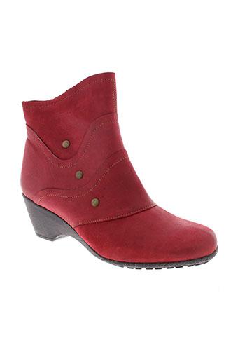 altex boots femme de couleur rouge