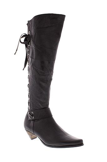 haziel bottes femme de couleur noir