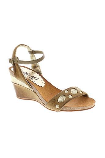 di et que et si sandales et nu et pieds femme de couleur beige