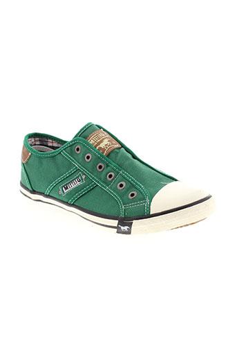 mustang baskets homme de couleur vert