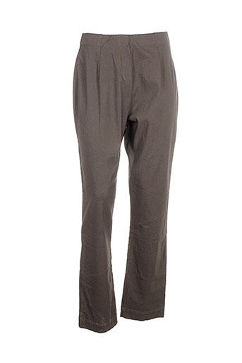 nana belle pantalons femme de couleur marron