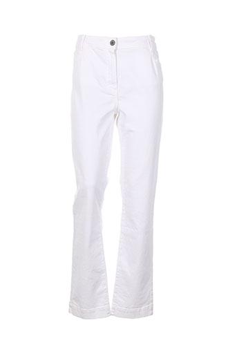 d.sport pantalons femme de couleur blanc