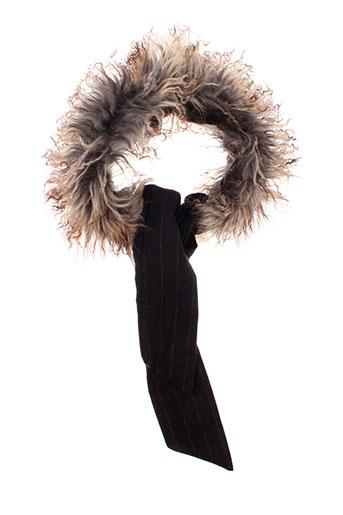 catherine et parra echarpes et gants femme de couleur marron