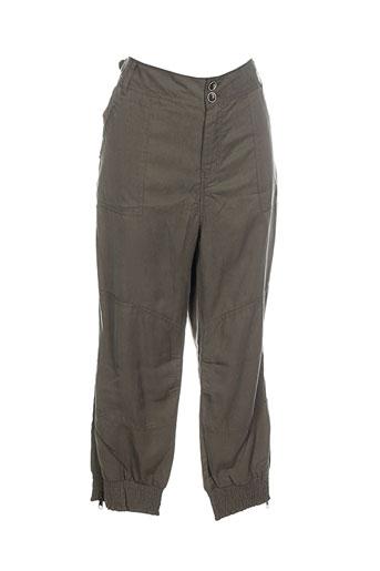 soyaconcept pantalons femme de couleur vert