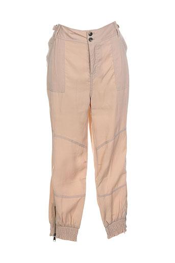 soyaconcept pantalons femme de couleur beige