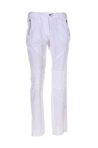 fleur et de et sel pantalons et decontractes femme de couleur blanc
