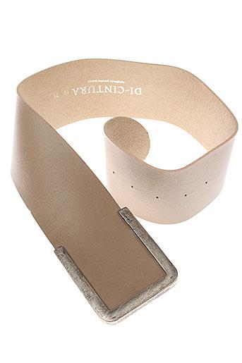 di et cintura ceintures femme de couleur beige