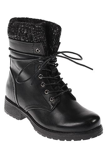 forever et folie boots femme de couleur noir