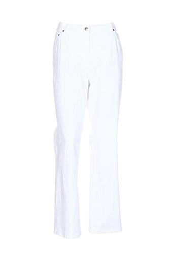 pauporte pantalons et decontractes femme de couleur blanc
