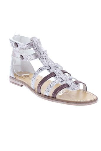 bellamy sandales et nu et pieds femme de couleur gris