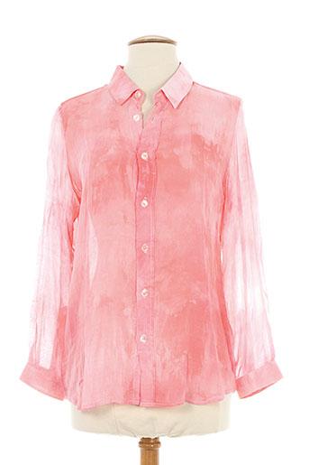 berangere claire chemises femme de couleur rose
