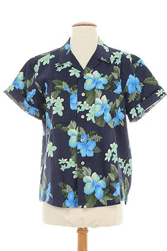 berangere claire chemises femme de couleur bleu