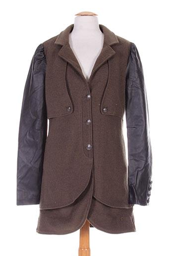 1060 et clothes manteaux et longs femme de couleur vert (photo)