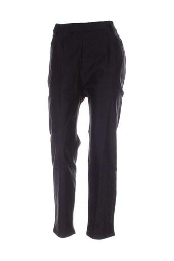 h-3 pantalons femme de couleur noir
