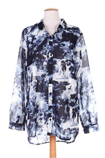 fransa chemises femme de couleur bleu