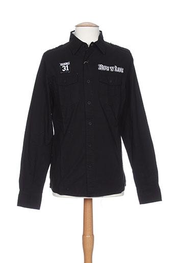 hopenlife chemises homme de couleur noir