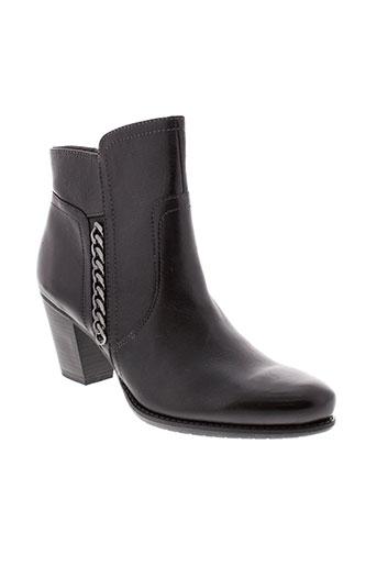 tamaris bottines femme de couleur noir