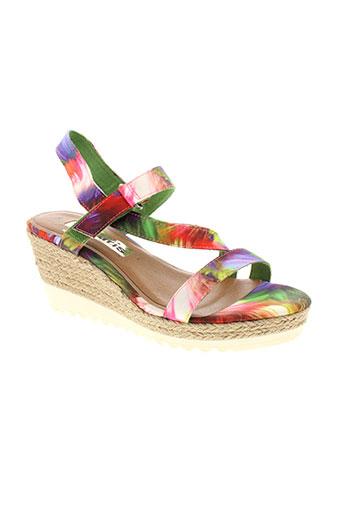 tamaris sandales et nu et pieds femme de couleur violet