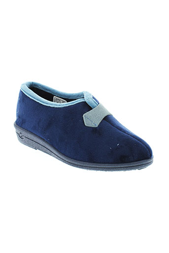 wapiti pantoufle femme de couleur bleu