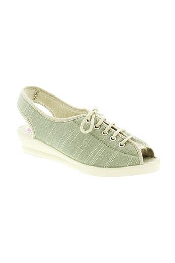 wapiti chaussures femme de couleur vert
