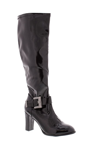 initiale et paris bottes femme de couleur noir