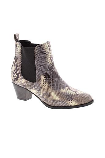 initiale et paris boots femme de couleur marron