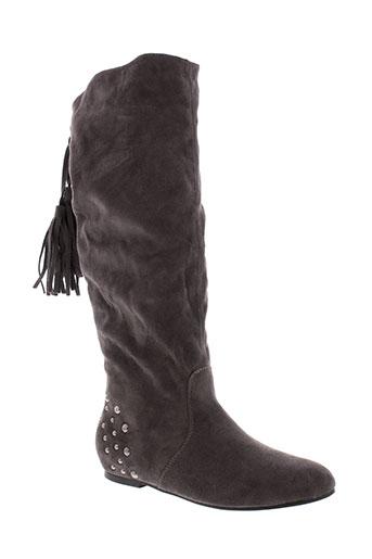 toscania bottes femme de couleur gris