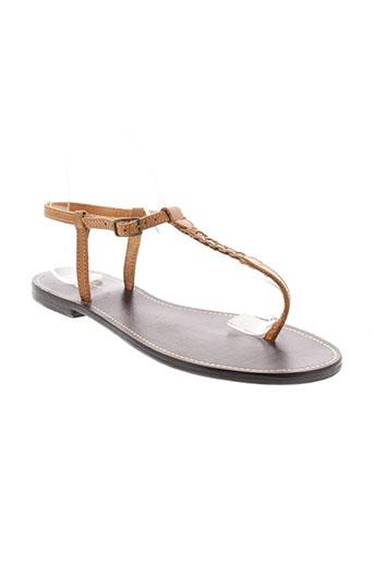 jet et 7 sandales et nu et pieds femme de couleur marron