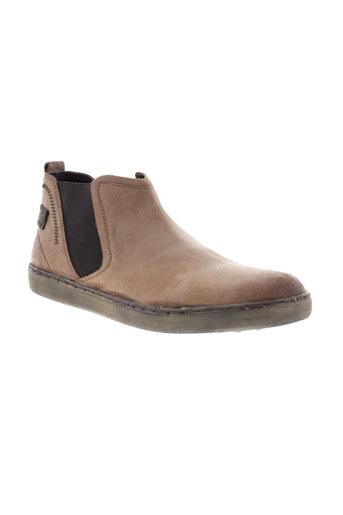 moran et s boots homme de couleur beige