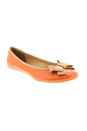 elite ballerines femme de couleur orange