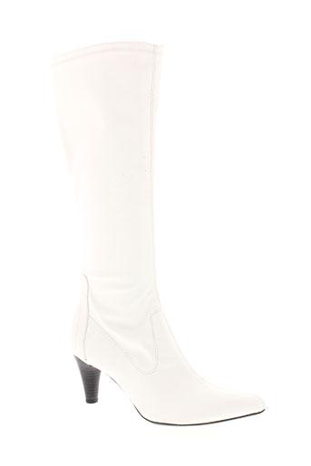 gino et ventori bottes femme de couleur blanc