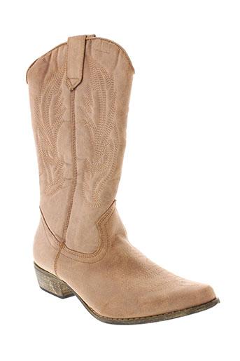 jet et 7 bottes femme de couleur beige