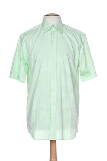 optimal chemises homme de couleur vert