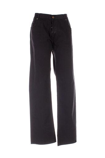c.seventeen pantalons homme de couleur noir