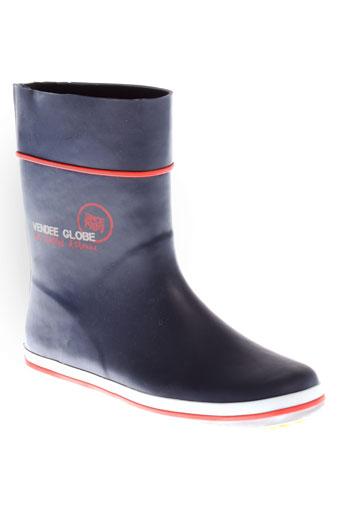 vendee et globe boots homme de couleur bleu