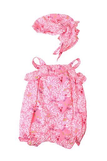 3 et pommes barboteuses fille de couleur rose (photo)