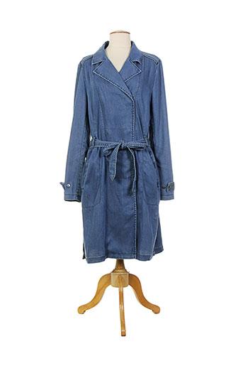 sandwich manteaux femme de couleur bleu