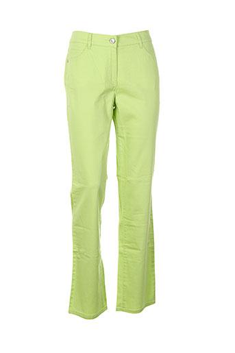 lebek pantalons femme de couleur vert